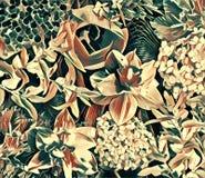 Collage del fiore del giardino Immagine Stock Libera da Diritti