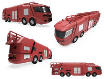 Collage del firetruck aislado del concepto Fotos de archivo