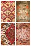 Collage del fondo de la alfombra Foto de archivo