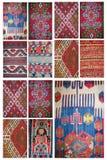 Collage del fondo de la alfombra Imagen de archivo libre de regalías