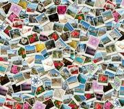 Collage del fondo hecho de las fotos del recorrido foto de archivo libre de regalías