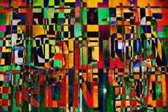 Collage del fondo o papel pintado digital al azar del diseño de la tipografía Fotos de archivo libres de regalías