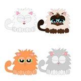 Collage del gato stock de ilustración