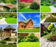 Collage del giardino Fotografia Stock