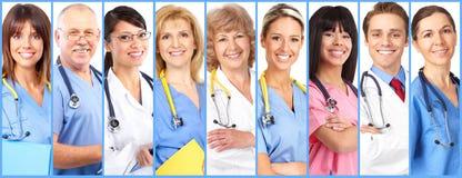 Collage del grupo de los doctores fotos de archivo libres de regalías