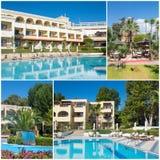 Collage del hotel turístico de lujo Foto de archivo libre de regalías