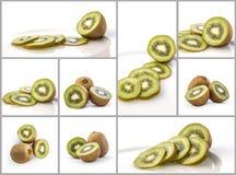 Collage del kiwi Fotografia Stock