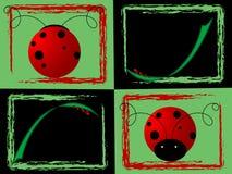 Collage del Ladybug Illustrazione Vettoriale
