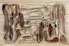 Collage del legname galleggiante Immagine Stock