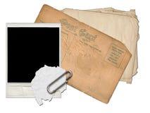 Collage del libro de recuerdos de la postal Imagenes de archivo