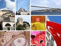 Collage del limite di Costantinopoli, Turchia Fotografia Stock