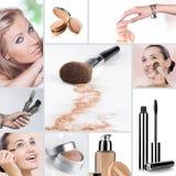 Collage del maquillaje imágenes de archivo libres de regalías