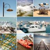 Collage del mar del verano imagen de archivo libre de regalías