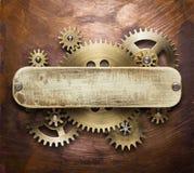 Collage del meccanismo del movimento a orologeria Immagini Stock