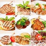 Collage del menu della griglia Fotografie Stock