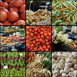 Collage del mercado de los granjeros foto de archivo libre de regalías
