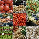 Collage del mercato degli agricoltori Fotografia Stock Libera da Diritti