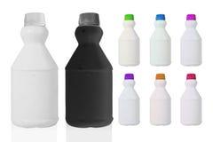 Collage del modello di plastica variopinto della bottiglia Fotografia Stock Libera da Diritti