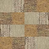 Collage del modelo de la textura de la tela de las lanas del camello en una orden del tablero de ajedrez Imagen de archivo