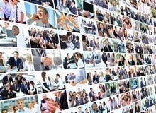 Collage del negocio Imagen de archivo libre de regalías