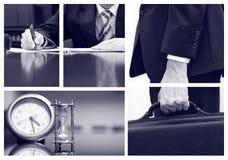 Collage del negocio Imagen de archivo