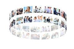 Collage del negocio Fotos de archivo libres de regalías