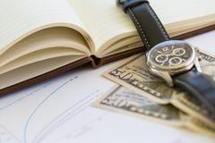 Collage del negocio con los diversos artículos Foto de archivo libre de regalías