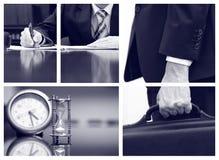 Collage del negocio, concepto de la reunión de negocios imagenes de archivo