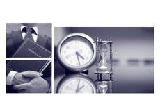 Collage del negocio, concepto del derecho penal fotografía de archivo