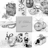 collage del Nuevo-año. Fotografía de archivo