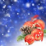 Collage del nuovo anno e di Buon Natale Fotografie Stock Libere da Diritti