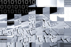 Collage del ordenador imágenes de archivo libres de regalías