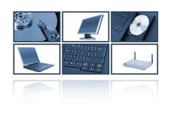 Collage del ordenador Fotos de archivo