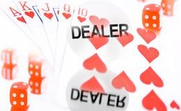 Collage del póker fotografía de archivo