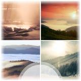 Collage del paesaggio Fotografia Stock Libera da Diritti