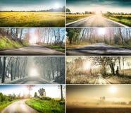 Collage del paesaggio del paese Immagini Stock Libere da Diritti