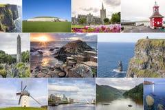 Collage del paese dell'Irlanda Immagine Stock Libera da Diritti