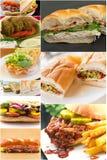 Collage del panino Fotografie Stock Libere da Diritti