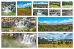 Collage del parque natural de Idaho Imagenes de archivo