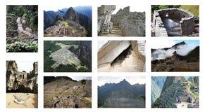 Collage del pichu de Machu imagen de archivo