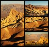 Collage del punto de Zabriskie Imagen de archivo libre de regalías