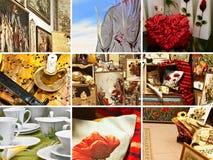 Collage del regalo imagenes de archivo