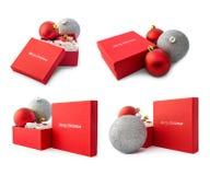 Collage del regalo de la Navidad Foto de archivo libre de regalías