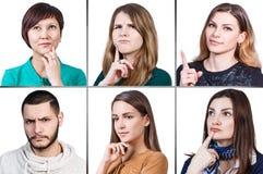 Collage del retrato de la gente foto de archivo libre de regalías