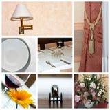 Collage del ristorante fotografia stock libera da diritti