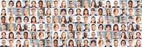 Collage del ritratto di panorama della gente di affari fotografia stock
