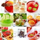 Collage del té Imágenes de archivo libres de regalías