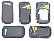 Collage del telefono mobile Fotografia Stock