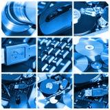 Collage del tema del ordenador fotografía de archivo libre de regalías
