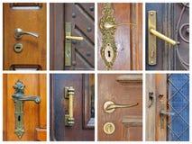 Collage del tirador de puerta Imagen de archivo